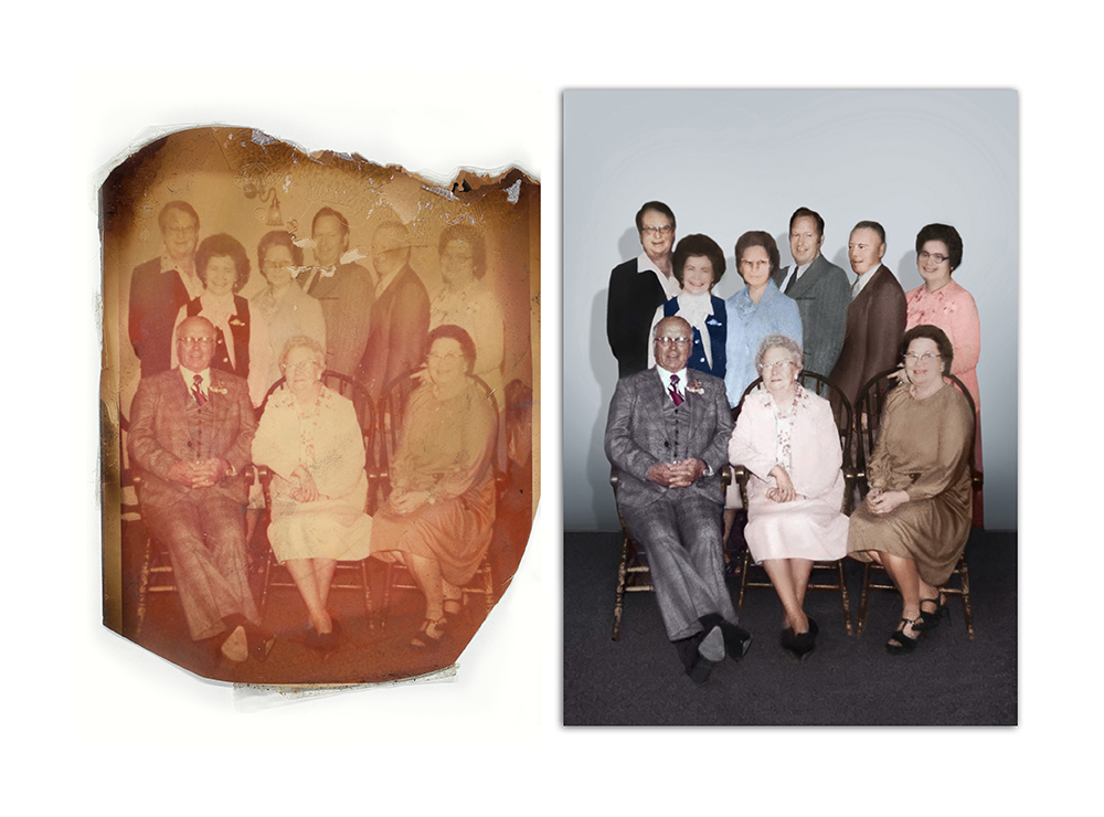 Torn and Faded photo fix by Roots Family History